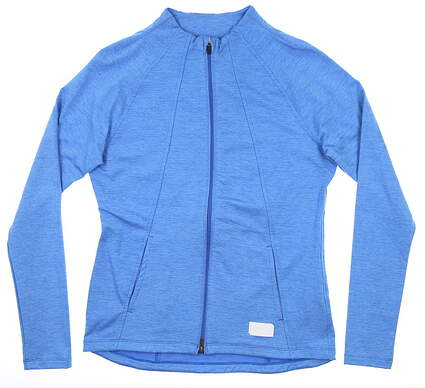 New Womens Puma Warm Up Jacket Small S Palace Blue MSRP $98 595850