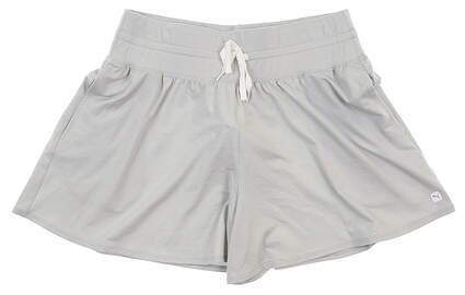 New Womens Puma Flowey Shorts Small S Gray MSRP $70 595854