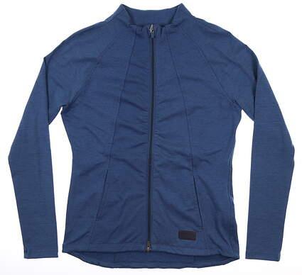 New Womens Puma Warm Up Jacket Small S Navy Blue MSRP $98 595850