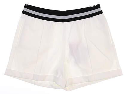 New Womens Puma Elastic Shorts Small S White MSRP $70 595858