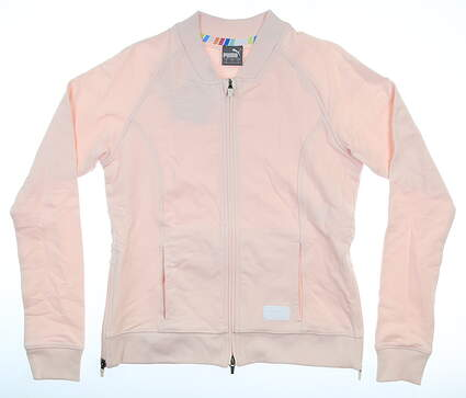 New Womens Puma Bomber Jacket Small S Rosewater MSRP $98 595845