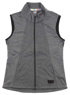 New Womens Puma Warm Up Vest Small S Gray MSRP $70 595852