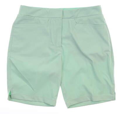 New Womens Puma Pounce Bermuda Shorts Small S Mist Green MSRP $65 577944