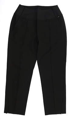 New Womens Puma Cropped Pants Small S Black MSRP $75 595860