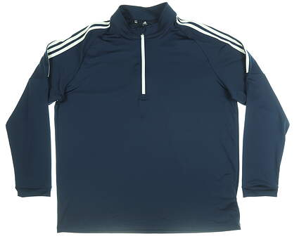 New Mens Adidas 1/4 Zip Golf Pullover XX-Large XXL Navy Blue MSRP $60 CW4985