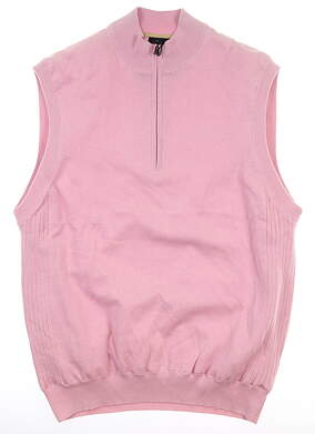 New Mens Greg Norman Natural Performance Sweater Vest Medium Pink MSRP $90 G7S3V120