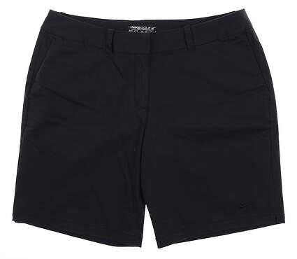 New Womens Nike Golf Shorts 12 Black MSRP $75 803051