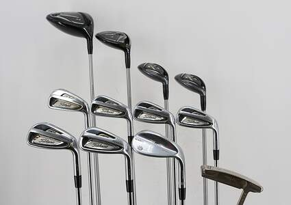 Mens Titleist 915 Complete Golf Club Set Steel Right Handed Regular Flex