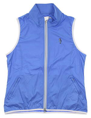 New W/ Logo Womens Peter Millar Golf Vest Large L Blue MSRP $130 LF19EZ33