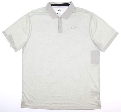 New Mens Nike Golf Polo Large L Gray MSRP $75