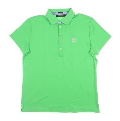 New W/ Logo Womens Ralph Lauren Golf Polo Medium M Green MSRP $98