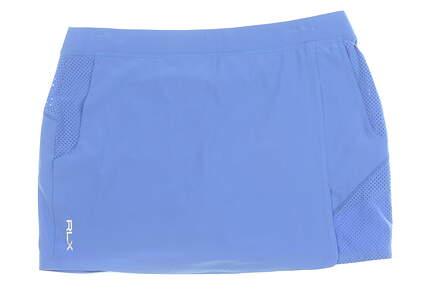 New Womens Ralph Lauren RLX Golf Skort Large L Blue MSRP $135