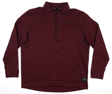 New Mens Nike 1/4 Zip Golf Pullover Large L Maroon MSRP $70