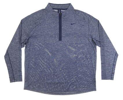 New Mens Nike 1/4 Zip Golf Pullover XX-Large XXL Blue MSRP $100 AJ5446 492