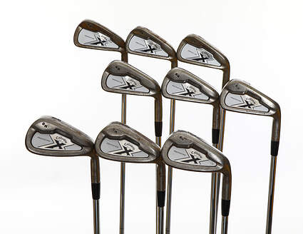 Tour Issue Callaway X Forged Iron Set 2-PW Stock Steel X-Stiff Played By Rocco Mediate