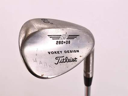 Tour Issue Mark O'Meara Titleist Vokey Tour Chrome Wedge Lob LW 60° 6 Deg Bounce Stock Steel Shaft Steel Wedge Flex Right Handed 35.0in