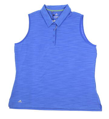 New Womens Adidas Ultimate Sleeveless Polo XX-Large XXL Blue MSRP $55 CE3073