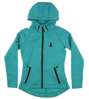 New W/ Logo Womens Level Wear Sweatshirt Small S Electric Green MSRP $115