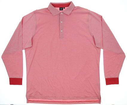 New Mens Fairway & Greene Long Sleeve Golf Polo XX-Large XXL Red MSRP $99