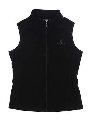 New W/ Logo Womens Straight Down Vest Small S Black MSRP $85 W10137