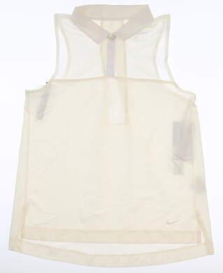 New Womens Nike Sleeveless Polo X-Small XS Cream MSRP $70 AV3672