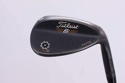 Titleist Vokey SM5 Raw Black Wedge Lob LW 58° 4 Deg Bounce L Grind Titleist SM5 BV Steel Wedge Flex Right Handed 35.25in