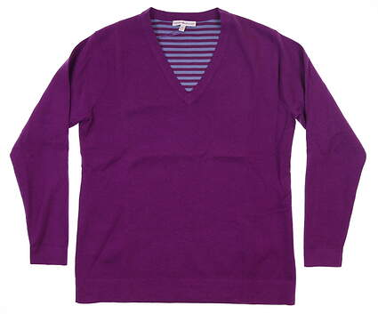 New Womens Peter Millar Golf Sweater Medium M Purple MSRP $174 LF16ES01