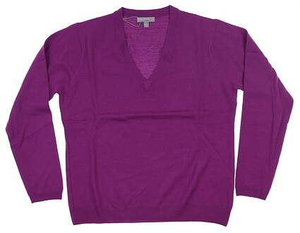 New Womens Peter Millar Golf Sweater Large L Purple MSRP $99 LF15ES01
