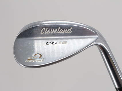 Cleveland CG15 Satin Chrome Wedge Gap GW 52° 10 Deg Bounce Cleveland Traction Wedge Steel Wedge Flex Right Handed 35.75in