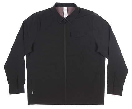 New Mens Travis Mathew Battery Reversible Jacket X-Large XL Black/Maroon MSRP $160