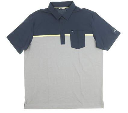 New Mens Travis Mathew Whitehill Golf Polo X-Large XL Multi MSRP $85 1MQ038