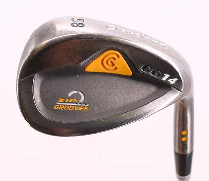 Cleveland CG14 Gunmetal Wedge Lob LW 58° 12 Deg Bounce Cleveland Traction Wedge Steel Wedge Flex Right Handed 35.5in