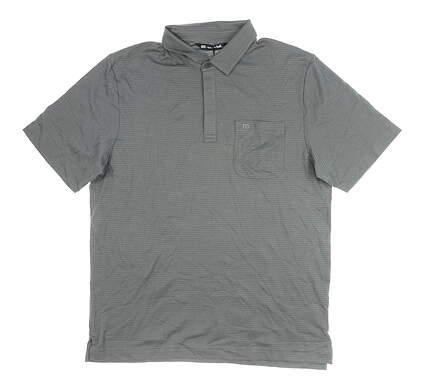 New Mens Travis Mathew Watty Polo Medium M Gray MSRP $75 1MO134