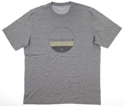 New Mens Travis Mathew T-Shirt X-Large XL Gray MSRP $35