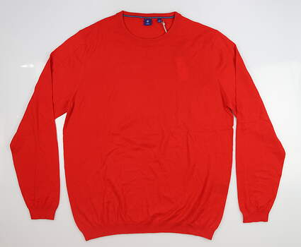 New Mens Footjoy 1857 Cashmere Sweater Large L Red MSRP $150 24757