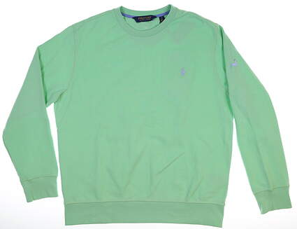 New W/ Logo Mens Ralph Lauren Long Sleeve Crew Large L Green MSRP $90