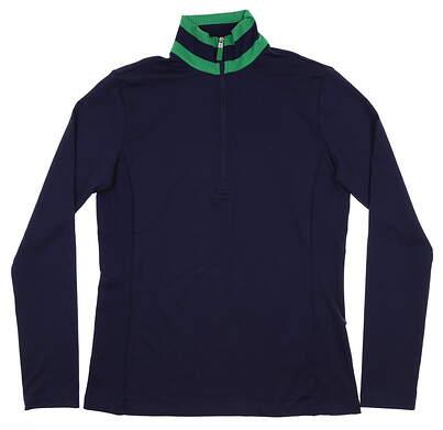 New Womens Ralph Lauren 1/2 Zip Pullover Medium M Navy Blue MSRP $125