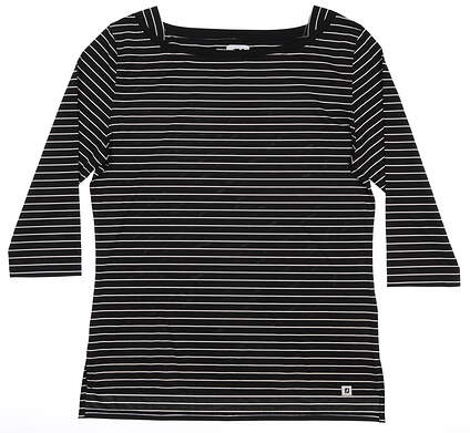 New Womens Footjoy 3/4 Sleeve Medium M Black MSRP $70