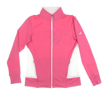 New W/ Logo Womens Footjoy Full Zip Mock Neck Small S Pink MSRP $100