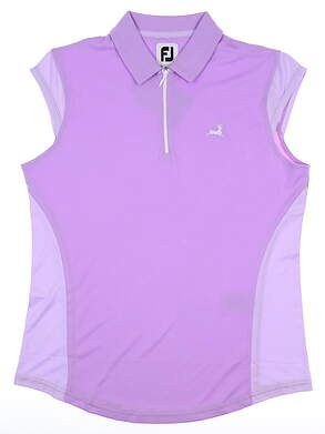 New W/ Logo Womens Footjoy Sleeveless Polo Medium M Purple MSRP $75