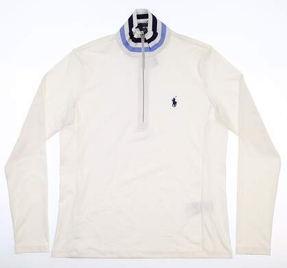 New Womens Ralph Lauren 1/4 Zip Pullover Medium M White MSRP $125