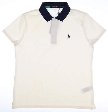 New Womens Ralph Lauren Tailored Fit Polo Large L White MSRP $69