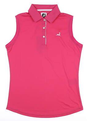 New W/ Logo Womens Footjoy Sleeveless Polo Small S MSRP $75