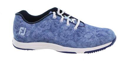 New Womens Golf Shoe Footjoy Leisure Medium 7.5 Blue MSRP $110 92905
