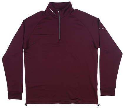 New Mens Dunning Thermal 1/4 Zip Pullover Large L Purple MSRP $89