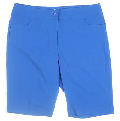 New Womens EP Pro Tech Stretch Shorts 12 Blue Yonder MSRP $80 8240NBD