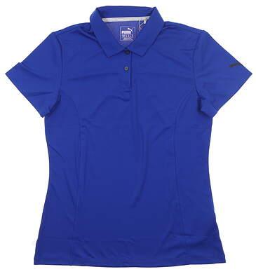 New Womens Puma Pounce Polo Medium M Blue MSRP $50 570527 20