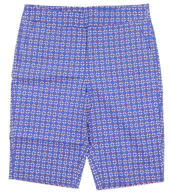 New Womens EP Pro Open Square Print Shorts Medium Sail Blue Multi MSRP $80 8111NAA