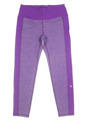 New Womens Footjoy Ankle Length Leggings Large L Purple MSRP $80 23942