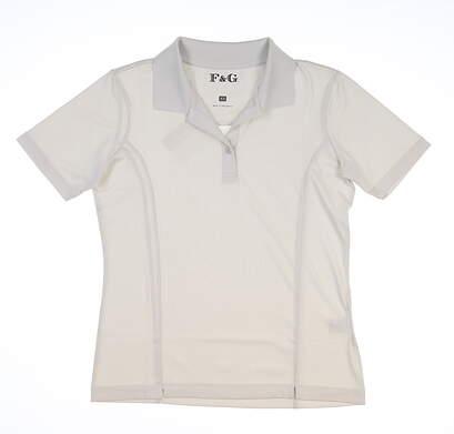 New Womens Fairway & Greene Golf Polo X-Small XS Gray MSRP $98 D12010P